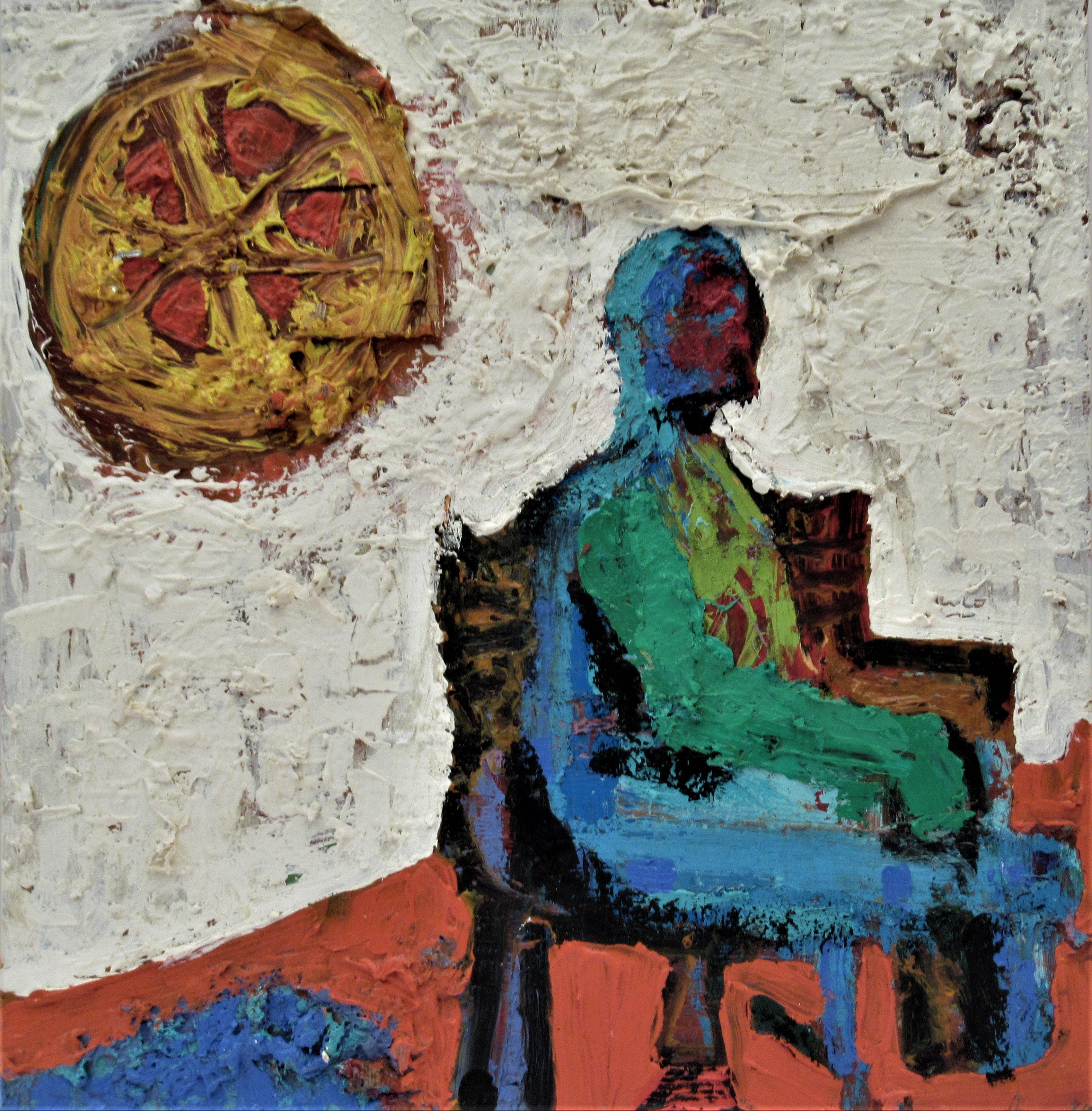 Untitled, Man on a Chair with Sun