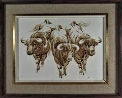 Three bulls