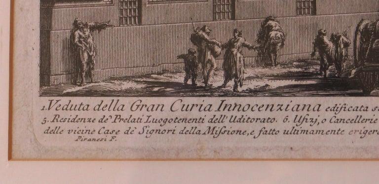 Veduta Della Gran Curia Innocenziana from Vedute di Roma, 1752 For Sale 2