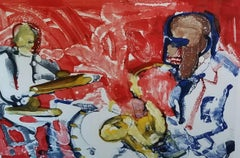 Romare Bearden - OUT CHORUS (Rhythm Section), 1979, from The Jazz Series