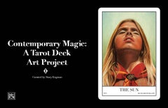 Deluxe Oversized Tarot Deck Exhibition Catalog Featuring 78 Artist Icons