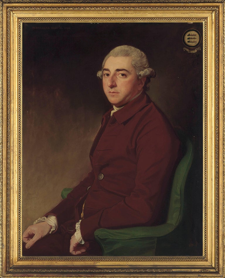 George Romney Figurative Painting - Portrait of Peregrine Bertie (1709-1779)