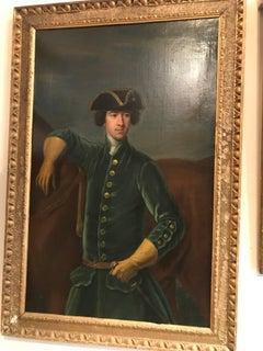 A half-length portrait of Sir Robert Spencer in blue frock coat.