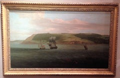 Shipping off Mount Edgecumbe by Samuel Scott and George Lambert