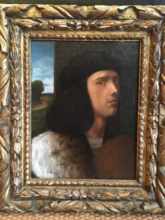 Portrait of a Young Man att. to Vittore Belliano