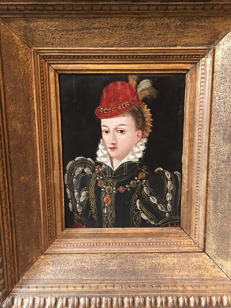 Portrait, possibly Queen Elizabeth the 1st in the guise of Diana the Huntress - Painting by Uknown