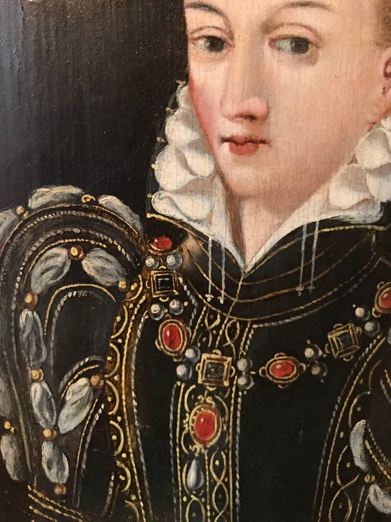Portrait, possibly Queen Elizabeth the 1st in the guise of Diana the Huntress - Old Masters Painting by Uknown