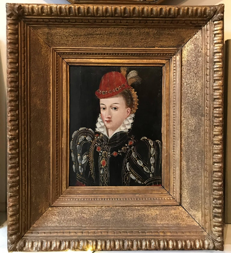 Uknown Figurative Painting - Portrait, possibly Queen Elizabeth the 1st in the guise of Diana the Huntress