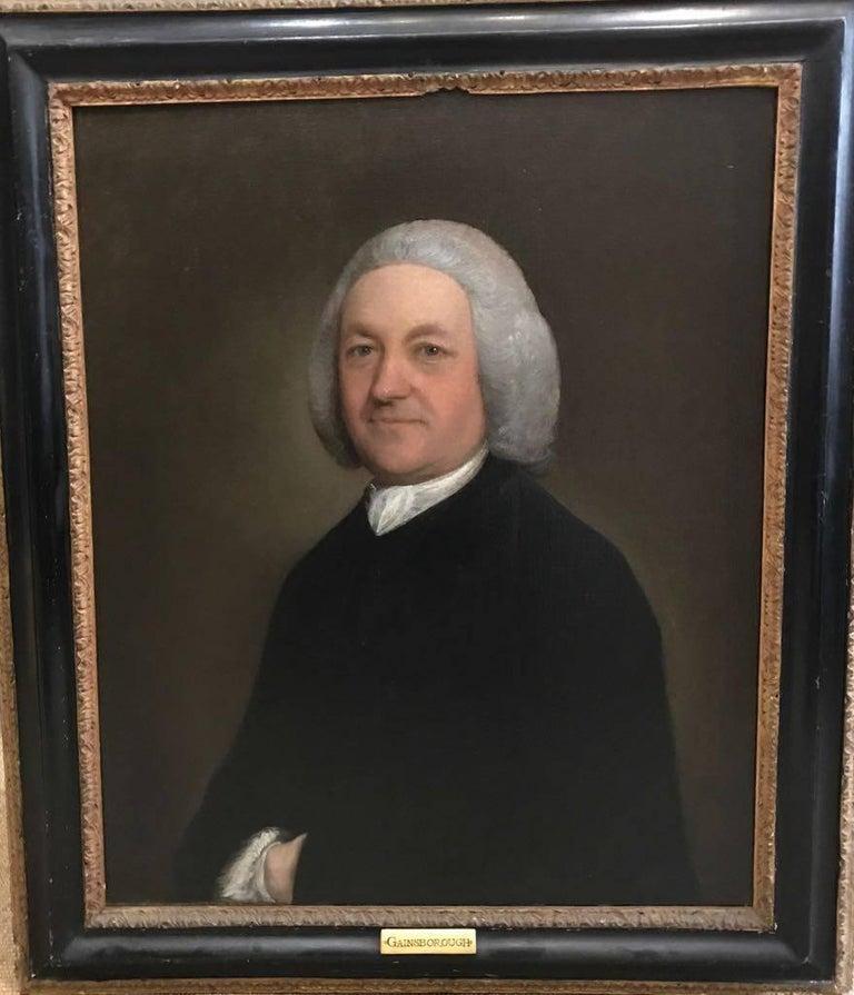 Portrait of the Rev. Richard Harris of Wymering Manor (1711-1768) - Painting by Thomas Gainsborough 18th Century British