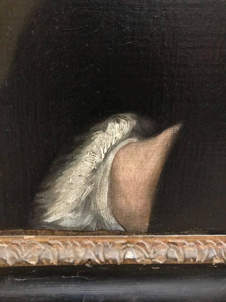 Portrait of the Rev. Richard Harris of Wymering Manor (1711-1768) - Black Portrait Painting by Thomas Gainsborough 18th Century British