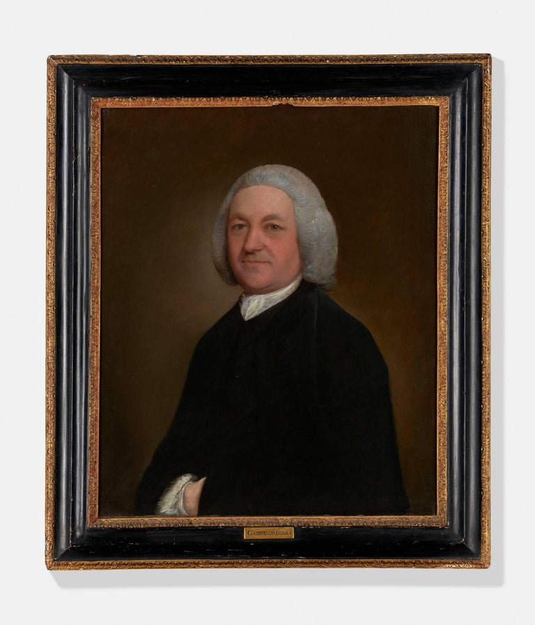 Thomas Gainsborough Portrait Painting - Portrait of the Rev. Richard Harris of Wymering Manor (1711-1768)