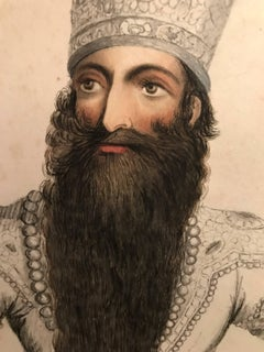 Portrait of Futteh Ali Shah, Second Qajar Emperor of Iran