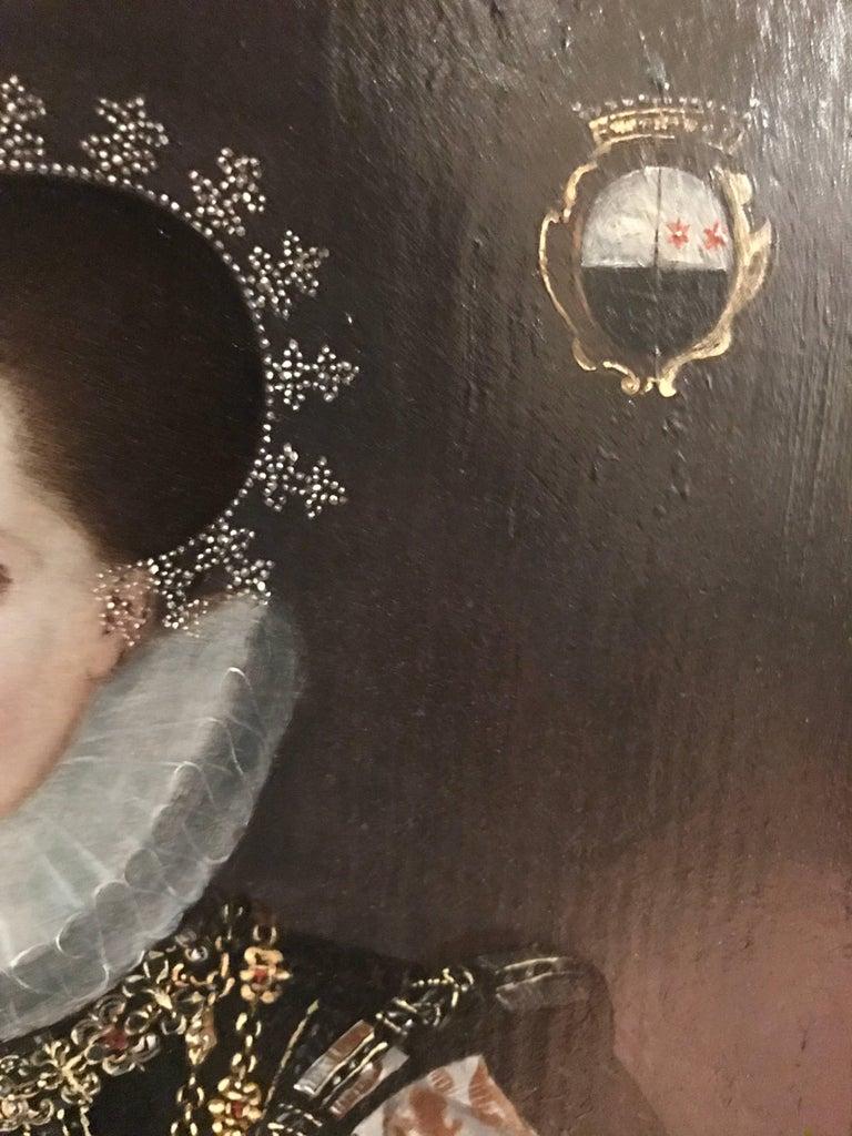 Elizabethan Lady Marriage Portrait For Sale 1