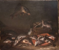 Still Life of Frechwater Fish and a Frog