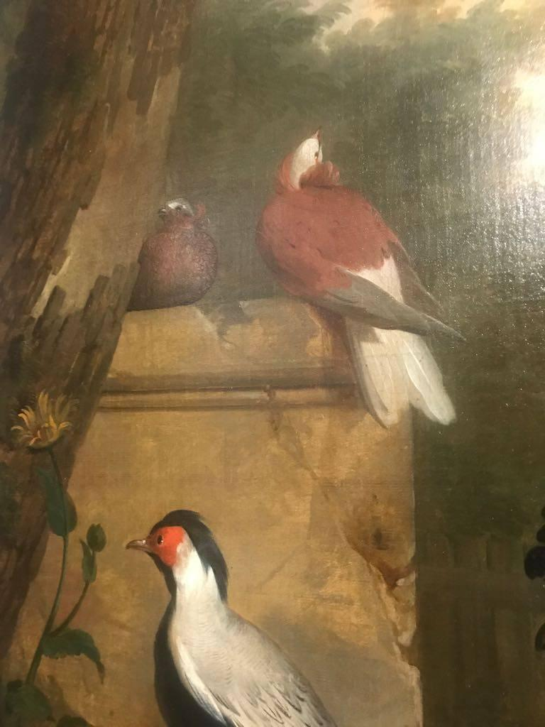 Aert Schouman started his painting career as a pupil of Adriaan van der Burg to whom he was apprenticed for eight years.  He came from the town of Dordrecht and was head of the Guild there from 1742 until his death. However, he moved to The Hague in