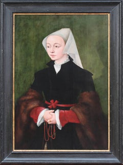 A large 16th C. oil on panel of Madeleine de Valois, Queen of Scots (1520-1537)