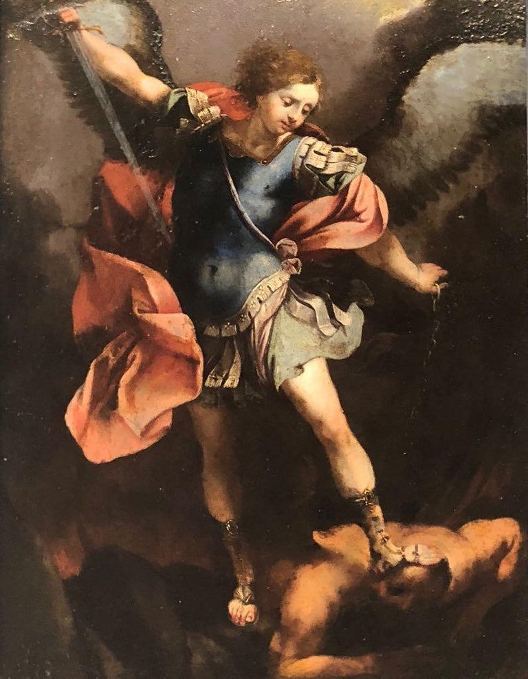 The Archangel Michael Defeating Satan - Painting by Unknown