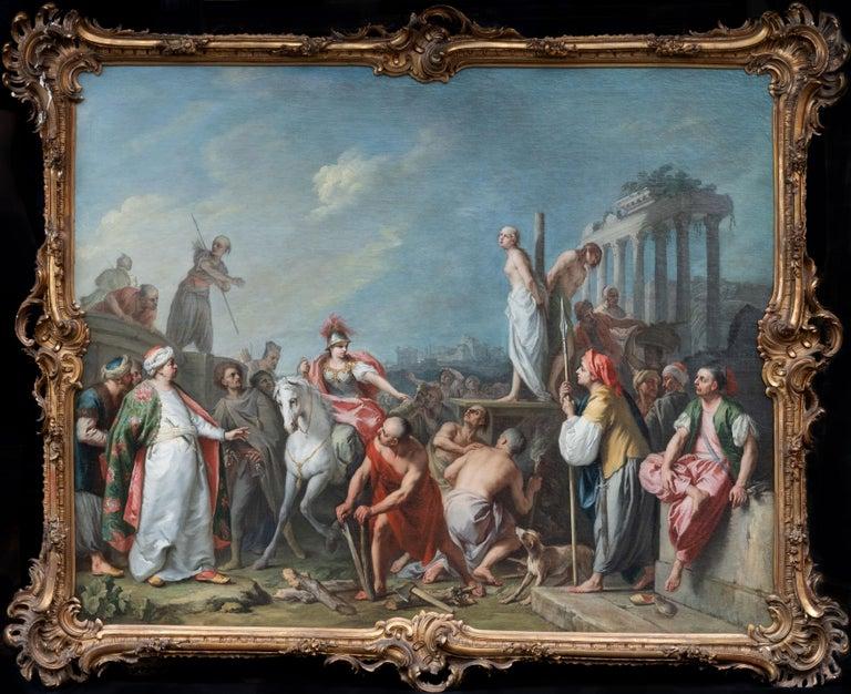 Jacopo Amigoni (1682-1752) Figurative Painting - Clorinda Rescuing Olindo and Sophronia