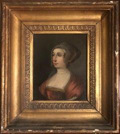 An Exquisite and Rare Portrait of Ann Boleyn (circa 1500-1536), Queen of England