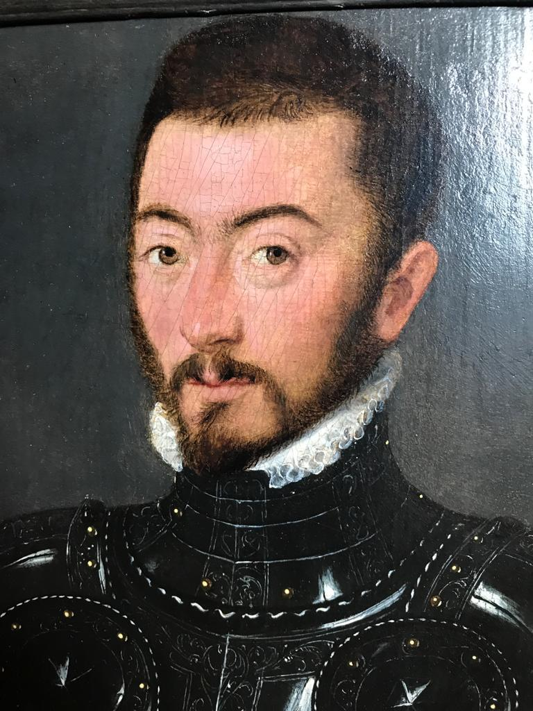 An exquisite 16th century painting of a Nobleman in Armour  For Sale 1