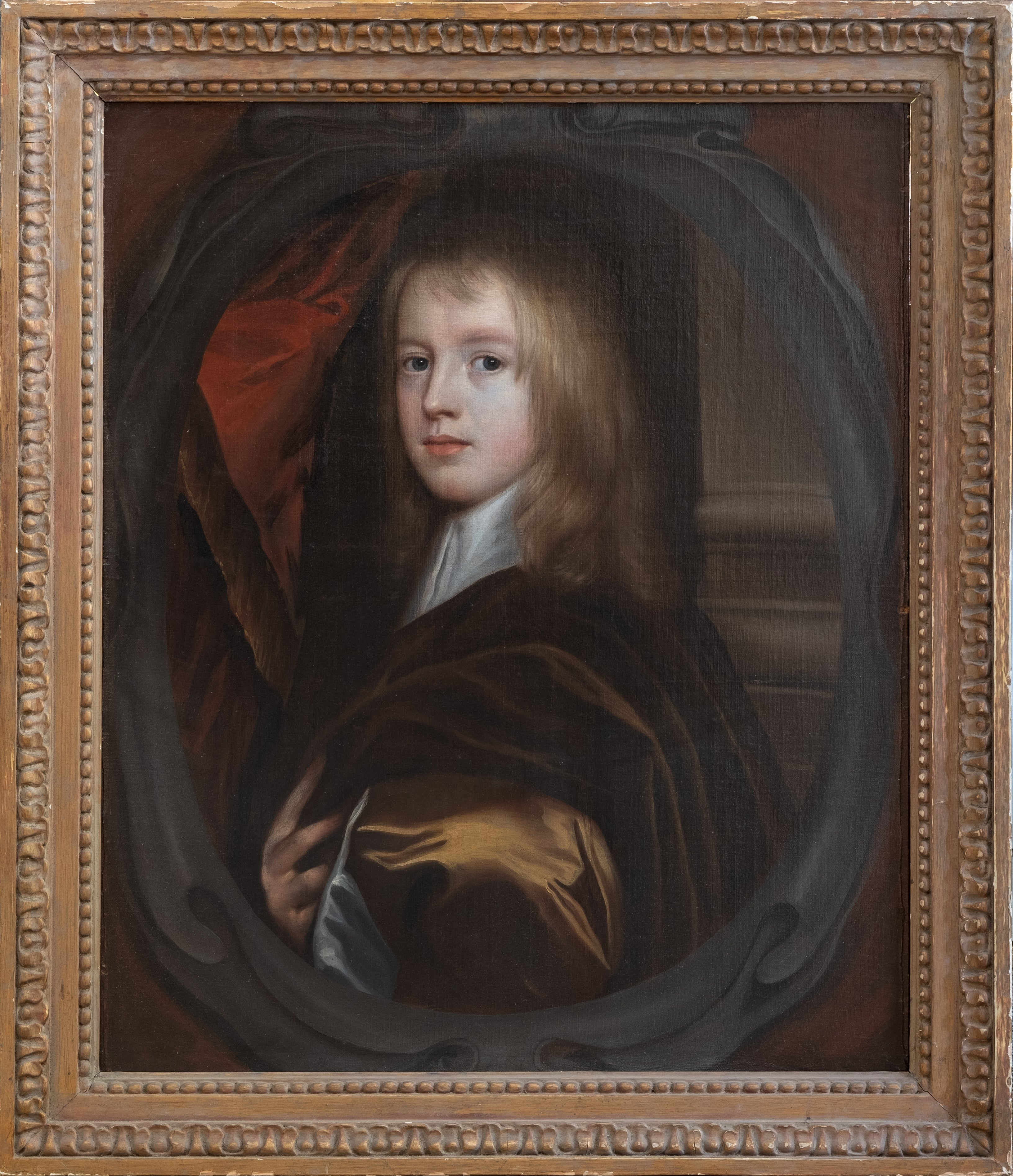 17th Century Oil Painting Portrait of a Young English Boy