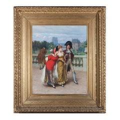 During the Directoire by Frederik Hendrik Kaemmerer, antique Parisian painting