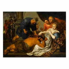 'Samson and Delilah' oil on canvas painting after the original by Van Dyck