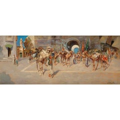 19th Century Orientalist oil painting by Perrota
