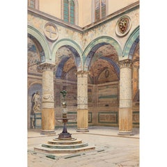 Watercolour painting by A. Marrani of Palazzo Ducale, Venice