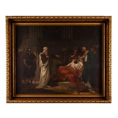 'Nathan confronts King David' 19th Century painting by Siberdt
