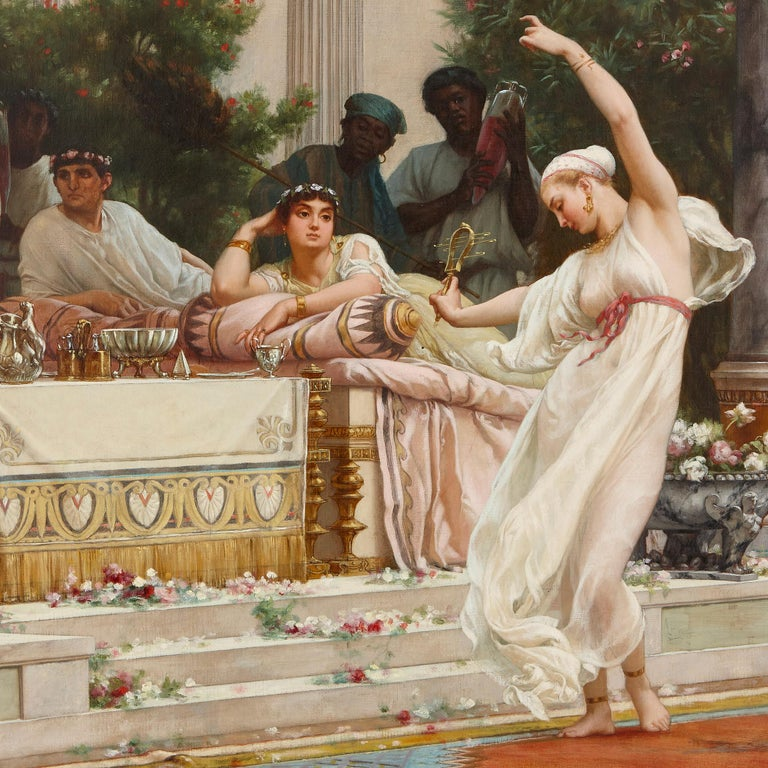 'A Summer Repast at the House of Lucullus', large oil painting by Boulanger - Academic Painting by Gustave Clarence Rodolphe Boulanger