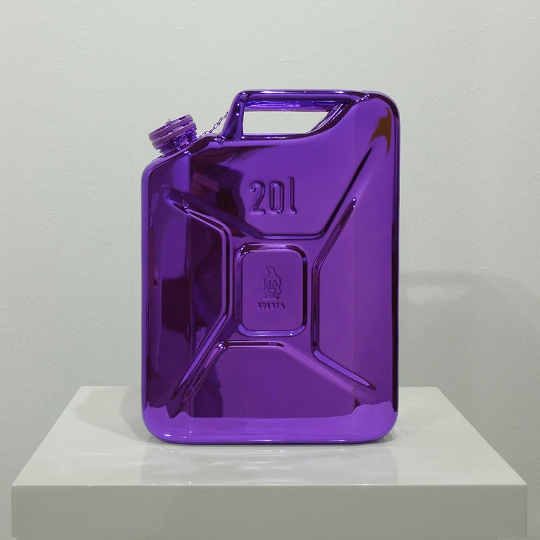 Marc Rembold Abstract Sculpture - 100 Years of Readymade  100 Years of Petrol Viola Petrol Polychrome