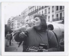 Untitled (Self-portrait with pigeon)