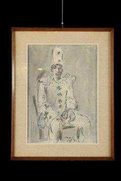 The Clown by Franco Rognoni (1913-1999)