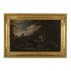 Francesco Casanova Attributable to Hunting Scene Oil on Canvas 18th Century