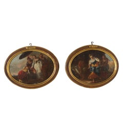 Giovanni Battista Crosato Context of Pair of Paintings with Biblical Scenes 1700