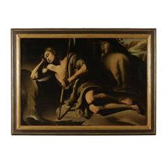St. John the Baptist Oil on Canvas 17th Century