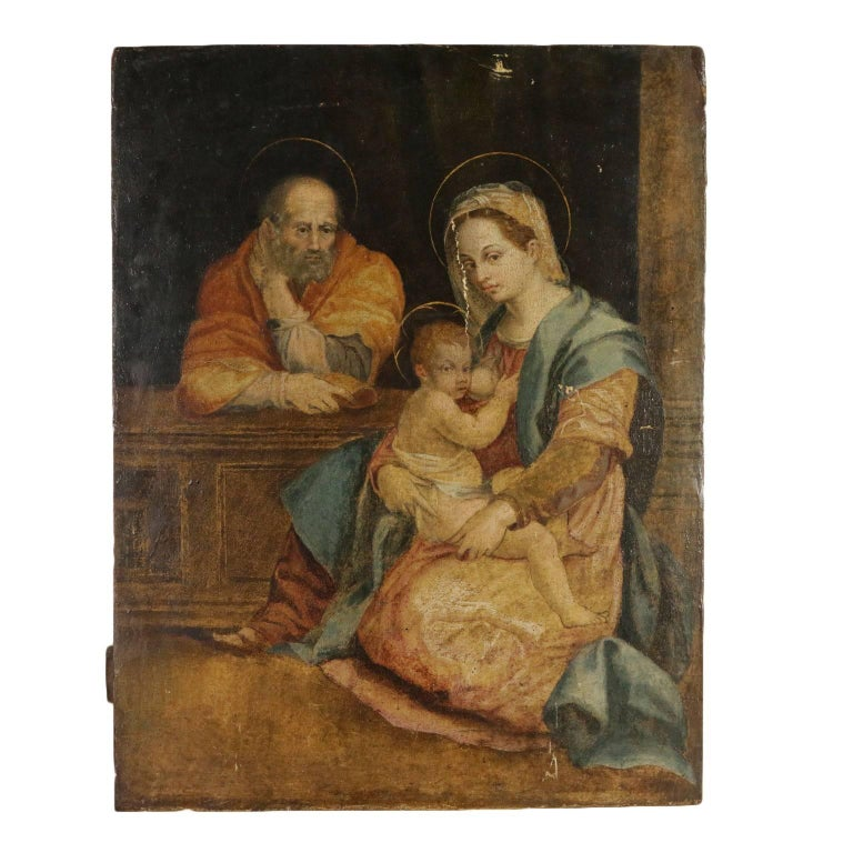 Copy from Andrea Del Sarto Holy Family Barberini 17th Century - Painting by Andrea Del Sarto