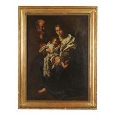 The Holy Family Copy by Bartolomeo Cavarozzi Oil on Board 17th Century