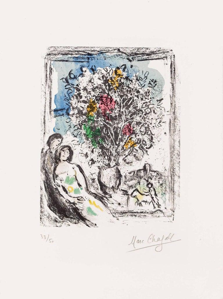 Marc Chagall, Le Petite Fenêtre Bleue, Saint Paul 1974