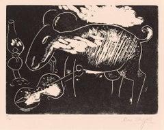 Marc Chagall, Le Chèvre et Violon, Berlin, 1922-1923