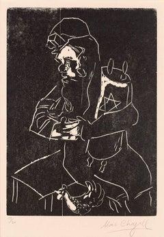 Marc Chagall, Juif à la Tora, Berlin, 1922-1923