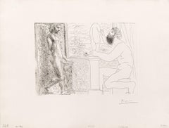 Picasso Print, Suite Vollard, Sculptor Working after a Pose by Marie-Thérèse