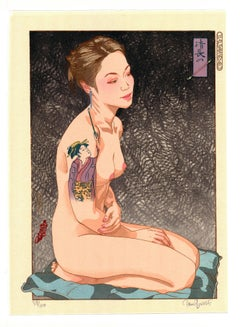 Kiyonaga's Pipe, Ukiyo-e, Woodblock Print, Tattoo