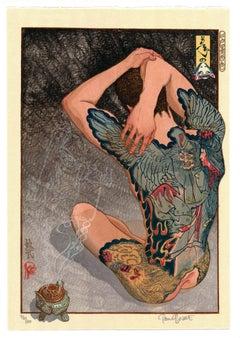 Yoshitoshl's Ghosts. Ukiyo-e, Woodblock Print, Tattoo