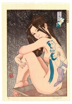 Utamaro no Shunga, Erotic Sexy Ukiyo-e Woodblock Print, Tattoo, Paul Binnie