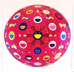 Red Flower Ball 3D