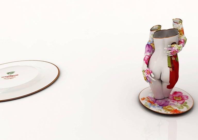Kim Joon Figurative Photograph - Fragile-Chunhyang on the Limoges