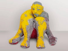 Ulysses - Contemporary, Sculpture, Figurative, Yellow, Gray, Human, Hero