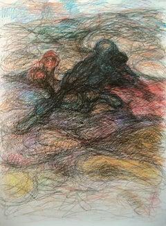 Untitled #5 - Contemporary Art, Drawing, Organic, 21st Century, Black